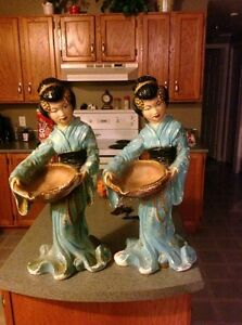 Tall asian figurines from the 60's