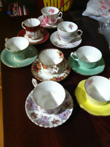 8 China Teacups and Saucers all in great condition