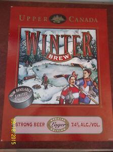 Upper Canada Winter Brew beer sign