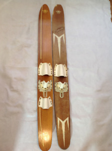 Vintage Wood Water Skis - Algonquin Continental