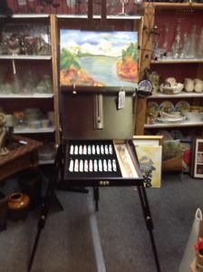 Chevalet de luxe avec kit de peinture et pinceaux