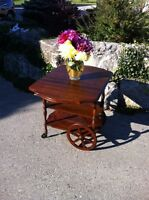 Vinteage Gibbard Walnut Tea Wagon