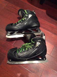 CCM Goalie Skates with Step Steel- All Black Size 7D or 6.5d
