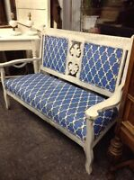ANTIQUE REFINISHED SETTEE $168!!!
