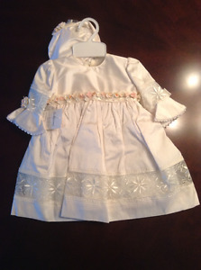 Girl's Baptism Dress Size 6 months Brand New