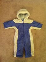 12-18 month purple and white snowsuit