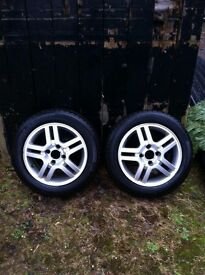 15' Ford Alloys Inc. 4x Dunlop Winter Tyres (2 nearly brand new)