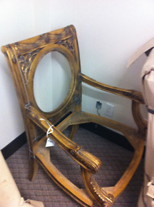 Carved gold chair for custom upholstery