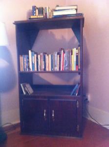 Dark Walnut Oak Bookshelf