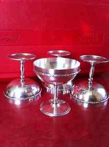 4 Silver Goblets. St. John's Newfoundland image 1