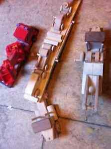 Wooden Toys - tow truck, fire truck, Truck hauler and 4 cars Regina Regina Area image 2