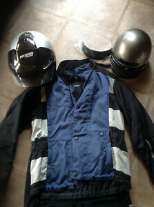Motorcycle clothing, helmets and boots