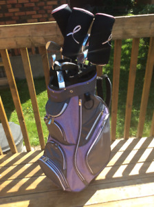 Ladies Left Golf Clubs/w bag