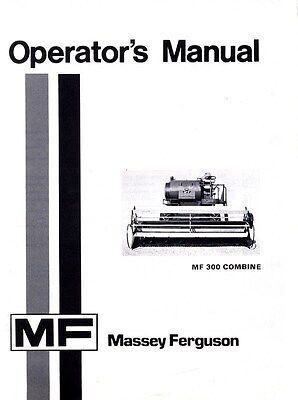 Massey Ferguson Mf 300 Combine Mf300 Operators Manual