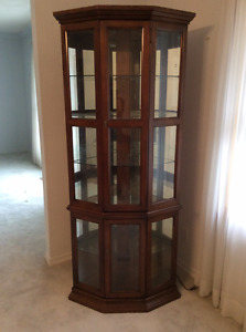 Solid Wood Curio/Display Cabinet