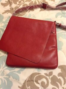*REDUCED* New W/Tags Italian Red Leather Satchel Cambridge Kitchener Area image 8