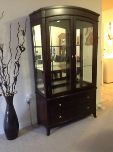Solid wood Cherry China cabinet