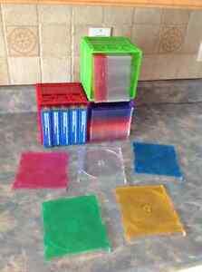 Boîtes et couvertes en plastiques pour CD, DVD, Blu-ray.