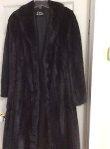 Dark female mink coat