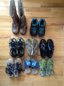 Lot of Little Boys Sneakers, Boots, Sandals & Dress Shoes