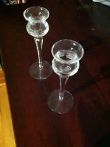 Crystal Candlesticks in Excellent Condition