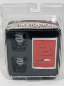 Dale Earnhardt Jr Shot Glasses and Playing Cards Collection Tin