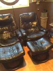 recliner leather chairs