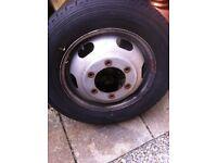 Transit tipper spare wheel