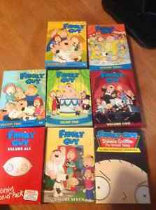 Family Guy DVDs vol. 1-6 + Stewie Griffin Untold Story