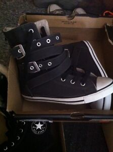 Converse chuck Taylor boots grey leather shoes Soulier 5 sneaker