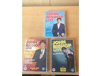 John bishop 1,2 & 3 dvds
