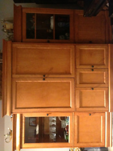 Maple Wall Cabinet - A solid piece in excellent condition!