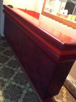 Red bar table/counter