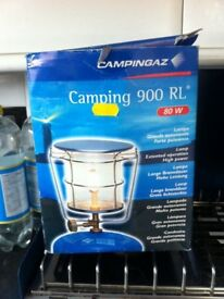 Camping gaz light and 907 gas bottle