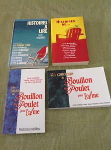 Quatre livres NEUFS pour $5.00