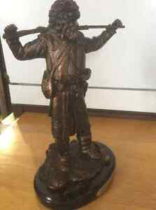 Ducks Unlimited bronze trapper statues Strathcona County Edmonton Area image 7