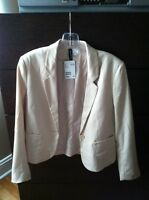 Women's blazer - H&M (beige / light pink)