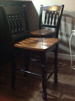 Tavern height wooden chairs