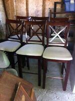Table bistro + 6 chaises bistro