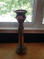 Gold and Mirror Candle Holder