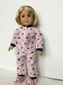 Sweet Onesie Pyjamas to fit American Girl or other 18 inch dolls