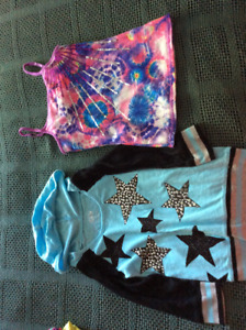 Justice tops size 8 and Ivivvia shorts