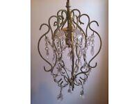 Laura Ashley shabby chic vintage crystal chandelier