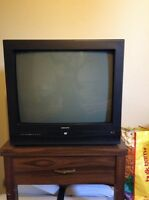 "21"" Curtis tv with built in DVD player!"