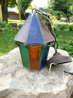 Outdoor Light Fixture Stained Glass