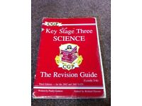 Key Stage 3 Science revision book by CGP.