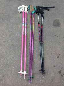 "3 pairs of ski poles - $10 each - 43.5""L, 45""L and 47""L"
