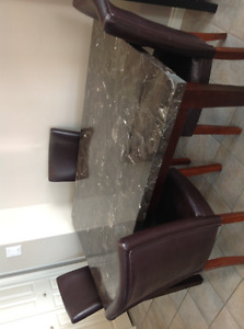 Malala marble table c/w 4 chairs