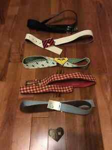 Volcom, Roxy, Fox, Globe belts