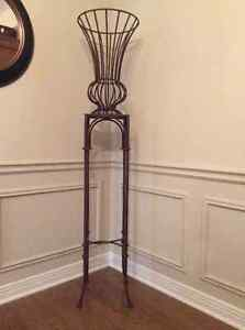 Wrought iron urn and pedestal table London Ontario image 1